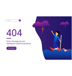 404 error web pages lost in ocean blue vector image