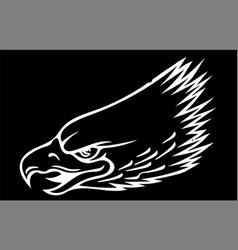 a eagle head mascot in black vector image