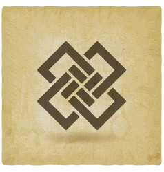 Abstract interlocking squares vintage background vector