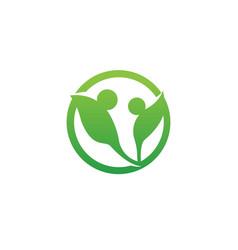 Adoption care logo template vector
