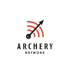 Arrow with network icon logo design vector