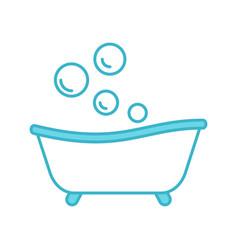Baby bathtub color icon vector