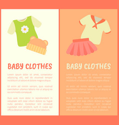 baby clothes framed banners vector image