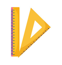 Back to school education triangle ruler and ruler vector