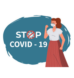 banner in flat style with woman in face medical vector image