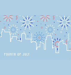 beautiful fireworks in national flag colors for vector image