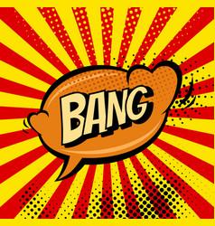 big bang retro sign template heart speech bubble vector image