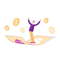 Business success financial freedom concept vector