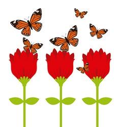 Butterflies flying vector