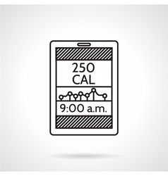 Calories counter black line icon vector image