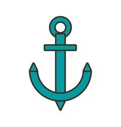 cartoon anchor nautical travel maritime vector image