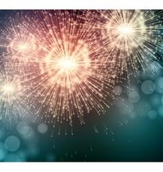Celebrate party sparkler little fireworks vector
