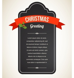 Chalkboard christmas vintage invitation and label vector