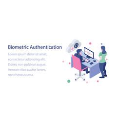 Cloud biometric authentication vector