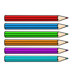 colored pencils doodle style vector image