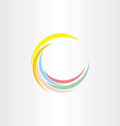 Colorfull summer wave logo design vector