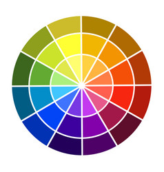 Colour wheel shadow and light color base colors vector