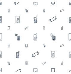 communicator icons pattern seamless white vector image