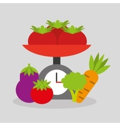 Cooking healthy food icon vector