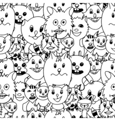 Cute cats colorful background vector image