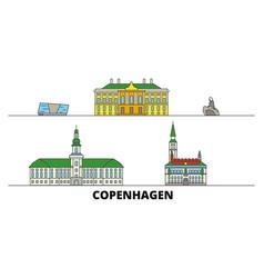 Denmark copenhagen flat landmarks vector