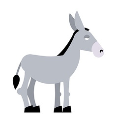 Donkey on white background Donkey isolated Cartoon vector