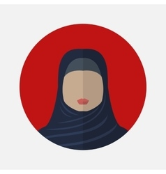 female arabic avatar vector image