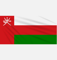 Flag oman swaying in the wind realistic vector