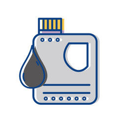 Gasoline bottle with drop to car industrial vector