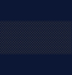 golden dots seamless pattern on dark blue vector image