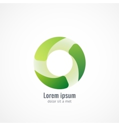 Green Eco logo icon design vector image