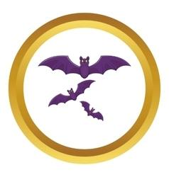Halloween bats icon vector image