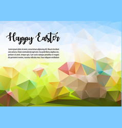 Happy easter abstract colorful polygon ilustration vector