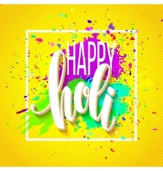 Happy Holi festival of colors greeting background vector image