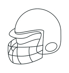 Helmet of american football sport design vector image