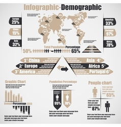 INFOGRAPHIC DEMOGRAPHIC NEW STYLE 10 BROWN vector image