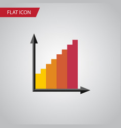 Isolated statistic flat icon monitoring vector