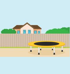 jumping trampoline flat vector image