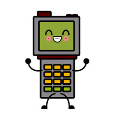 kawaii delivery dataphone technology online vector image