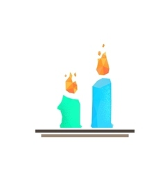 Lowpoly candles vector