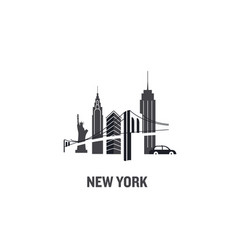 made with icons new york vector image