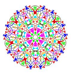 mandala round pattern vintage decorative culture vector image