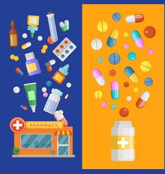 medicines vertical banner templates vector image