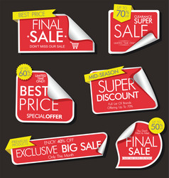 modern sale banners and labels modern collection vector image