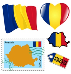national colours of Romania vector image