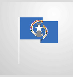 Northern mariana islands waving flag design vector