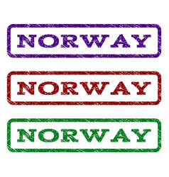 Norway watermark stamp vector