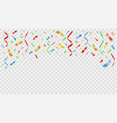 party decoration color confetti realistic vector image