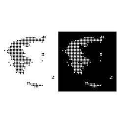 Pixel greece map vector