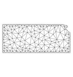 Polygonal carcass mesh map of kansas state vector